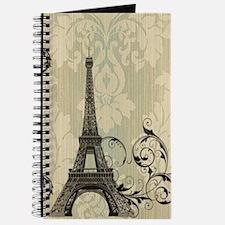 shabby chic swirls eiffel tower paris Journal