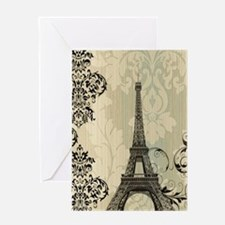 shabby chic swirls eiffel tower par Greeting Cards