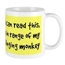 Poo-Flinging Monkey - Coffee Small Mug