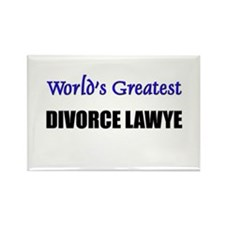 Worlds Greatest DIVORCE LAWYE Rectangle Magnet