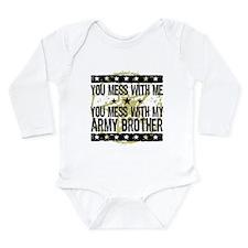 Funny Army sister Long Sleeve Infant Bodysuit
