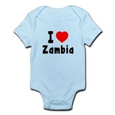I Love Zambia Infant Bodysuit