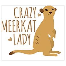 Crazy MEERKAT Lady Poster
