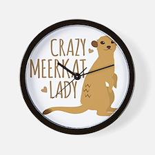Crazy MEERKAT Lady Wall Clock