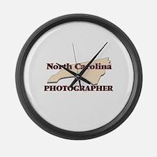 North Carolina Photographer Large Wall Clock