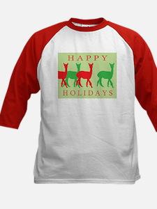 Happy Holidays Alpaca Kids Baseball Jersey