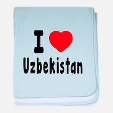 I Love Uzbekistan baby blanket