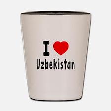 I Love Uzbekistan Shot Glass