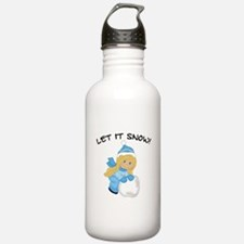 Let It Snow _Blonde.pn Water Bottle