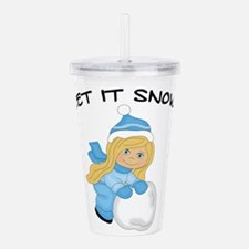 Let It Snow _Blonde.pn Acrylic Double-wall Tumbler
