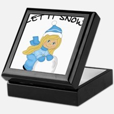 Let It Snow _Blonde.png Keepsake Box