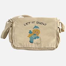 Let It Snow _Blonde.png Messenger Bag