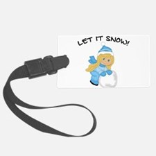 Let It Snow _Blonde.png Luggage Tag