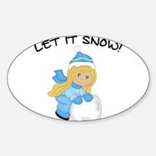 Let It Snow _Blonde Decal