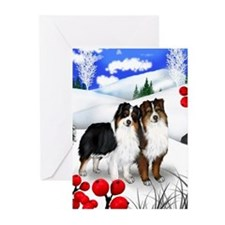 Funny Australian shepherds Greeting Cards (Pk of 10)