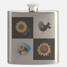 SUNFLOWERS & SCARECROWS Flask