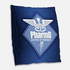 Pharmd (b)(diamond) Burlap Throw Pillow
