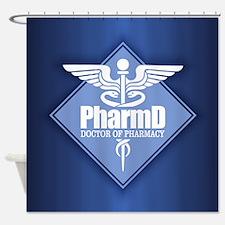 PharmD (b)(diamond) Shower Curtain