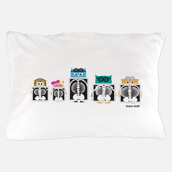 X-Ray Owls Pillow Case