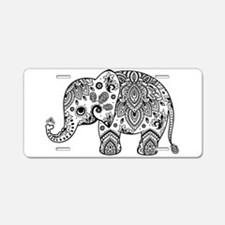 Unique Elephant Aluminum License Plate