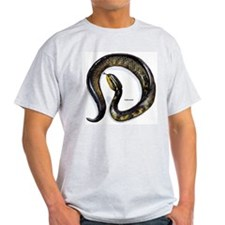 Cottonmouth Snake (Front) Ash Grey T-Shirt