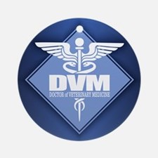 DVM (b)(diamond) Round Ornament