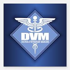 "DVM (b)(diamond) Square Car Magnet 3"" x 3"""