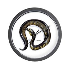Cottonmouth Snake Wall Clock