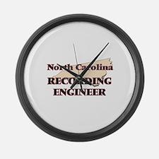 North Carolina Recording Engineer Large Wall Clock