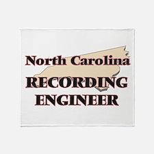 North Carolina Recording Engineer Throw Blanket