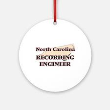 North Carolina Recording Engineer Round Ornament