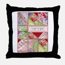 Shana's Quilt Throw Pillow