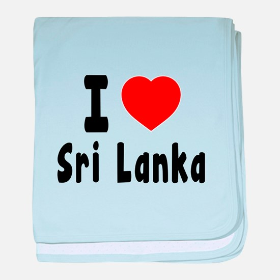 I Love Sri Lanka baby blanket