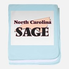 North Carolina Sage baby blanket