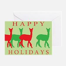 Happy Holidays Alpaca Greeting Card