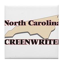 North Carolina Screenwriter Tile Coaster