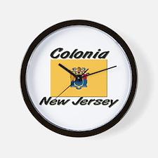 Colonia New Jersey Wall Clock
