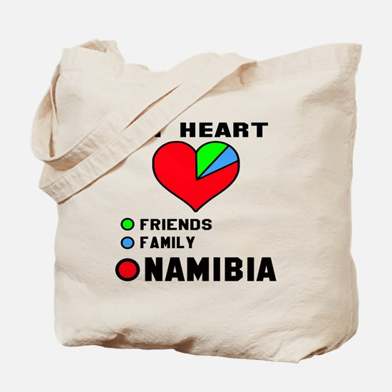 My Heart Friends, Family and Namibia Tote Bag