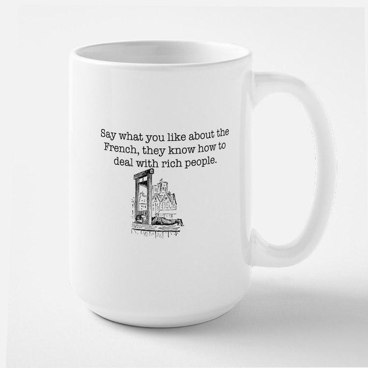 French Rich People Large Mug