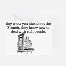 French Rich People Greeting Card