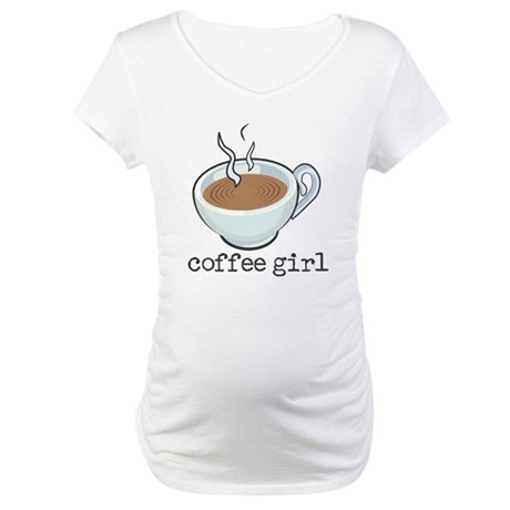 Coffee Girl Maternity T-Shirt