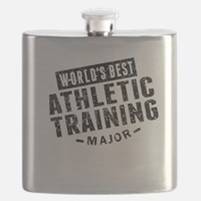 Worlds Best Athletic Training Major Flask