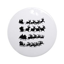 Cute Nightmare before christmas Round Ornament