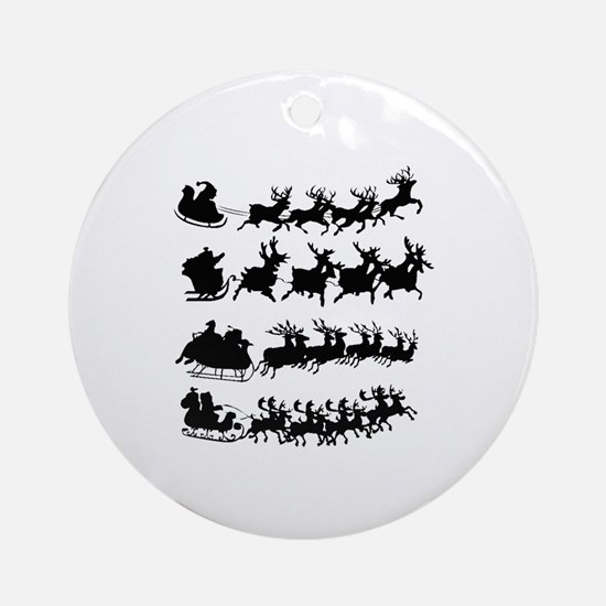 Cute The nightmare before christmas Round Ornament