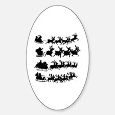 Cool Nightmare before christmas Sticker (Oval)