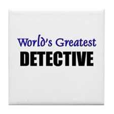 Worlds Greatest DETECTIVE Tile Coaster