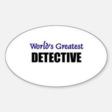 Worlds Greatest DETECTIVE Oval Decal
