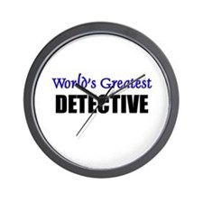 Worlds Greatest DETECTIVE Wall Clock