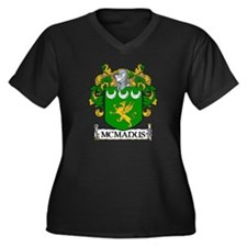 McManus Coat of Arms Women's Plus Size V-Neck Dark