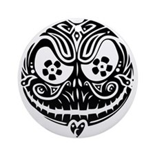 Jack Scarry Face Round Ornament